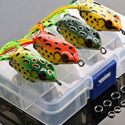 4 Piece Frog Fishing Lure Set