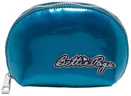Sourpuss Bettie page makeup bag blue - Forever Tattooed