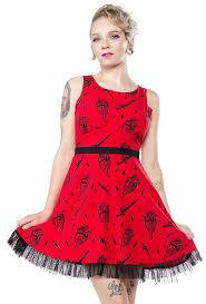 Sourpuss Fatally Yours Dress - Forever Tattooed