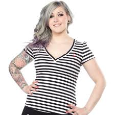 Sourpuss anchor vneck shirt - Forever Tattooed
