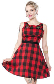 Sourpuss Buffalo Plaid Flower - Forever Tattooed