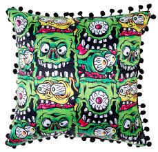 Sourpuss Fink Faces Pillow - Forever Tattooed
