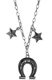 Sourpuss Horseshoe Charm Necklace
