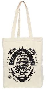 Sourpuss Klipper Ship Tote - Forever Tattooed