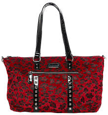 Sourpuss Leda Red Leo Travel Bag