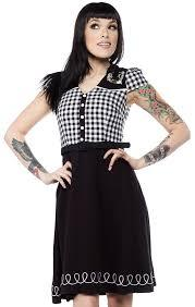 Sourpuss Lucky Line Dance Dress - Forever Tattooed
