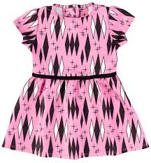 Sourpuss Pink Retro Diamonds Kids Dress - Forever Tattooed