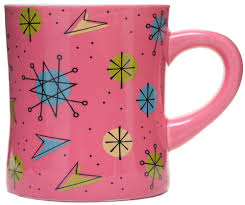 Sourpuss Pink Sputnik Dinner Mug - Forever Tattooed