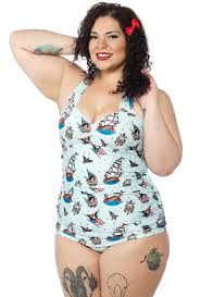 Sourpuss Sailor Onepiece Swimsuit