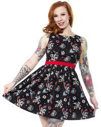 Sourpuss Birds Of Paradise Shift Dress - Forever Tattooed