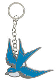 Sourpuss Sparrow Keychain - Forever Tattooed