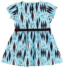 Sourpuss Blue Retro Diamond Kid Dress - Forever Tattooed