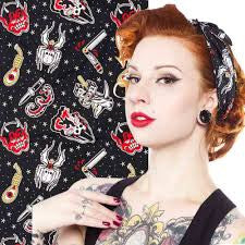 Sourpuss Rosie Friday The 13th Scarf - Forever Tattooed