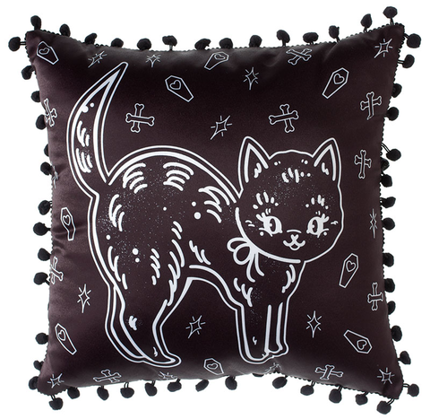 Sour Puss Creepy Cat Pillow - Forever Tattooed