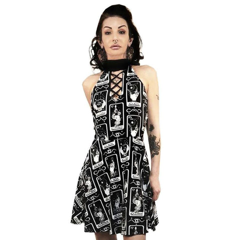 Too Fast La fortune Tarot Card Choker Dress - Forever Tattooed