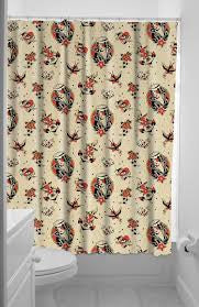 Sourpuss Lost Love Shower Curtain - Forever Tattooed