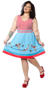 Sourpuss Day At The Shore Dress - Forever Tattooed