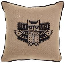 Sourpuss Get Lost Burlap Pillow - Forever Tattooed