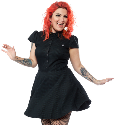Sourpuss Check Hunter Dress - Forever Tattooed