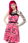 Sourpuss Pink Death Cab Dress - Forever Tattooed