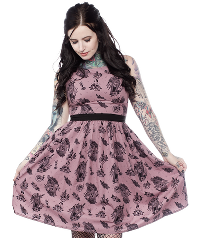 Sourpuss Die in Grace Shift Dress - Forever Tattooed