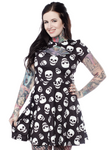 Sourpuss Skull Lust Scuba Dress - Forever Tattooed