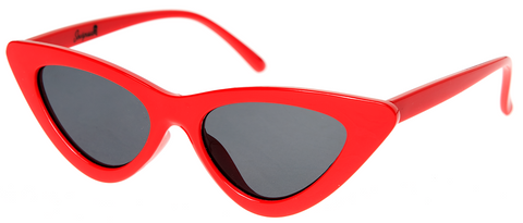 Sourpuss Cat Eye Sunglasses Red - Forever Tattooed
