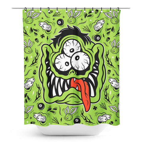 SOURPUSS FINK FACE SHOWER CURTAIN