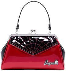 Sourpuss Backseat Baby Red Web Purse - Forever Tattooed