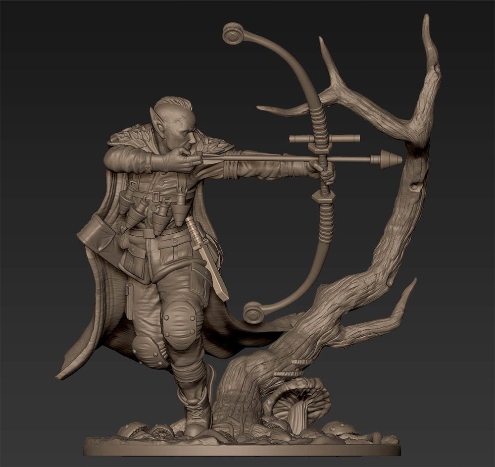 Allandir, Elf Ranger - 1st Sculpt for our Wave 2 Kickstarter