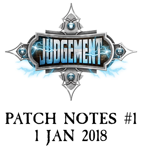 Judgement Patch Notes #1