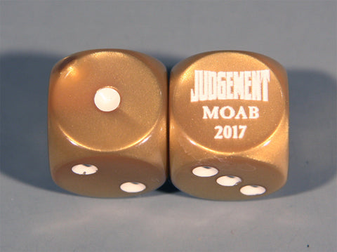 MOAB commemorative dice
