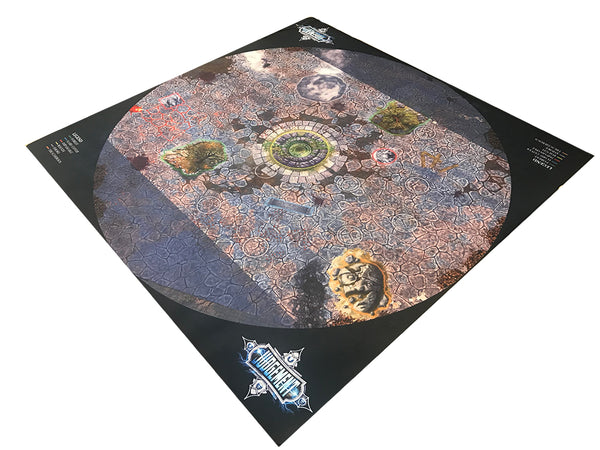 5v5 (3 foot diameter) Neoprene Gaming Mat - Cobblestone Theme