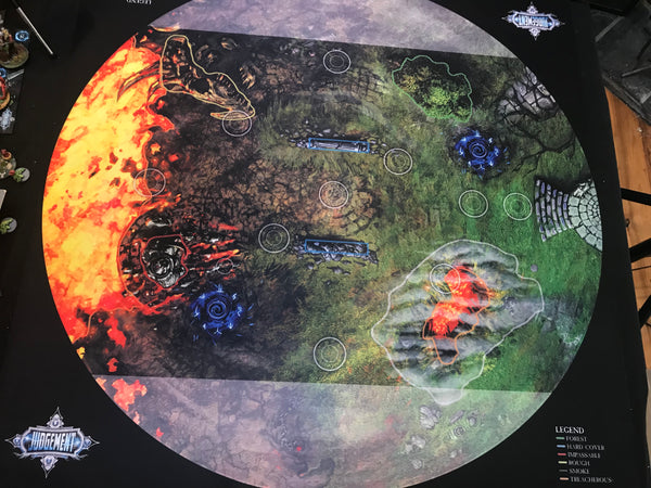 5v5 Neoprene Gaming Mat - Scorched Earth Theme