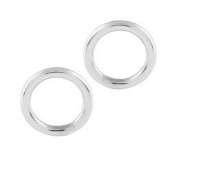 Circle contemporary 925 silver earrings