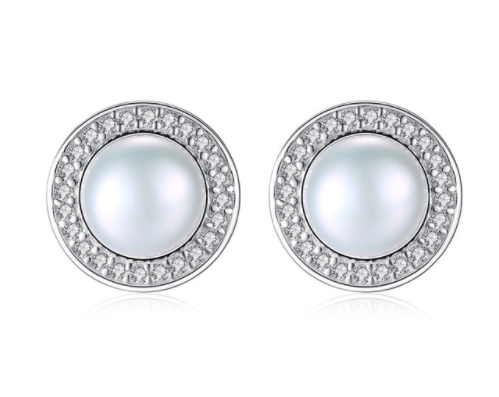 Sterling Silver Natural Pearl Stud