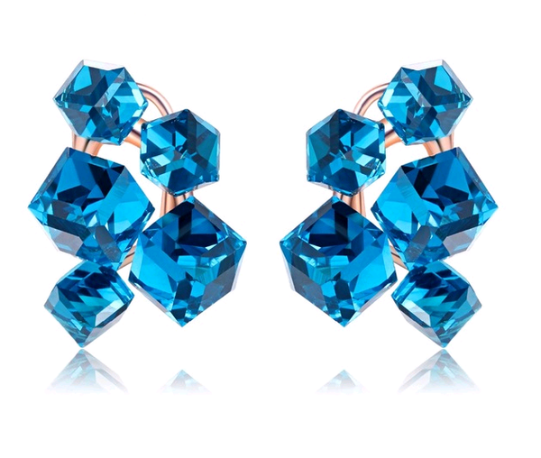 Blue Ice Cube Earrings
