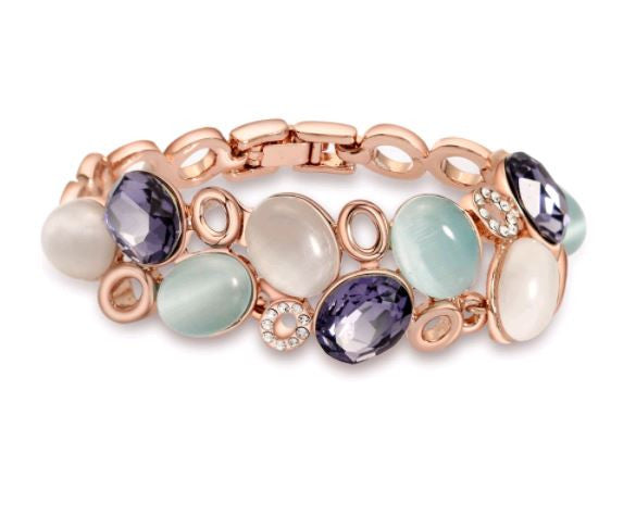 Rose Gold Aquamarine Bracelet