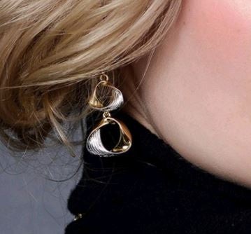 Golden silk Design Earrings
