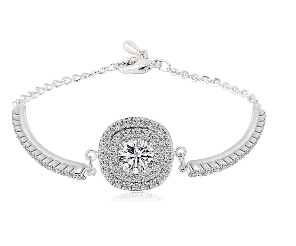 Diamond Cut Pave Bracelet