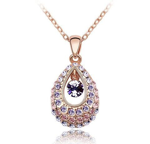 18K Gold Plated Crystal Necklace
