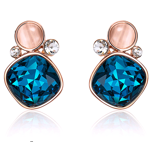 French Riviera Blue Earrings