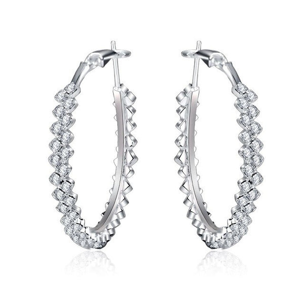 Glam Crystal Hoop Earrings