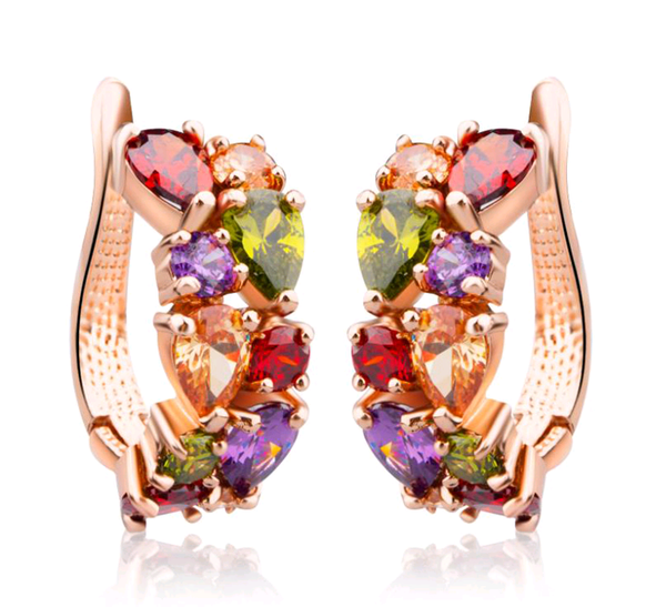 Gold Plated Rainbow Earrings