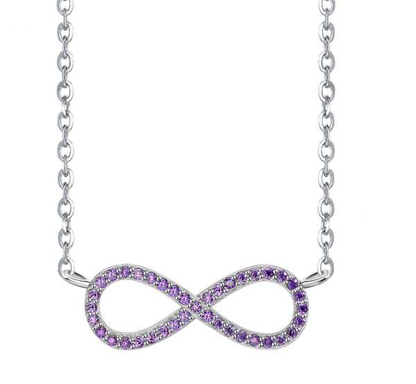 Infinity Paved Necklace