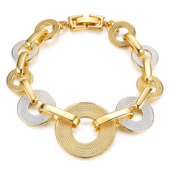 Golden Silk Design Bracelet