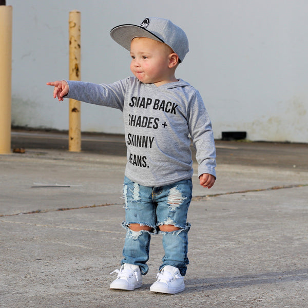 Snap Back, Shades, Skinny Jeans Hooded Tee