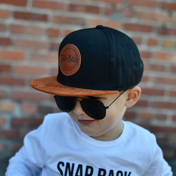 Carmel + Black Branded Snap Back **RTS