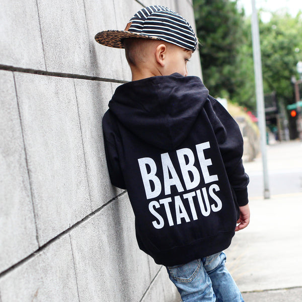 Babe Status Zip up Hooded Sweatshirt