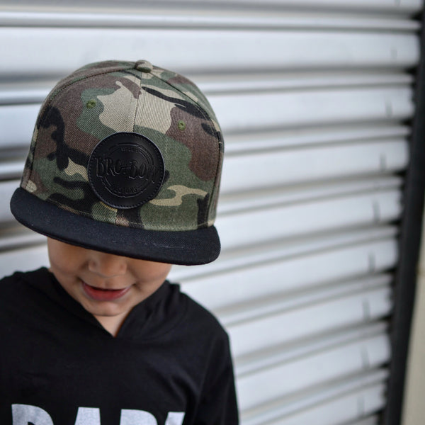 Camo + Black Branded Snap Back **RTS